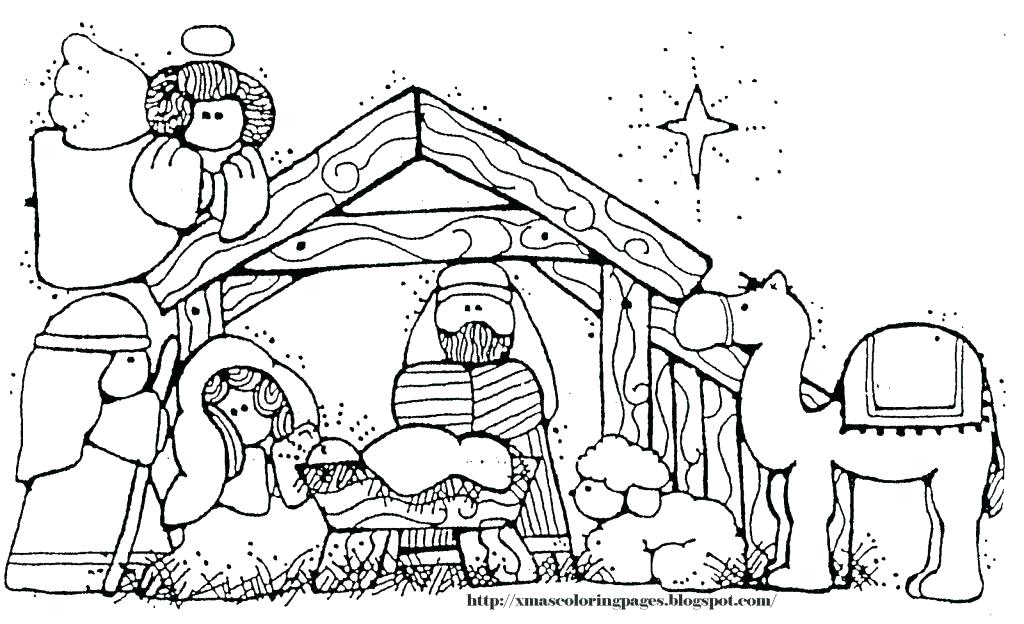 1024x624 Free Printable Nativity Coloring Pages Nativity Coloring Pages
