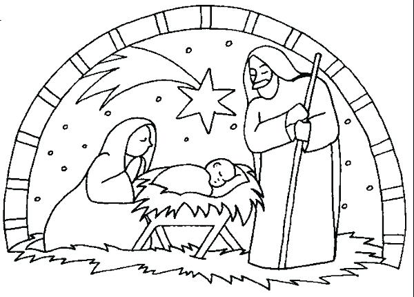 600x430 Nativity Coloring Pages Free Printable Free Printable Coloring