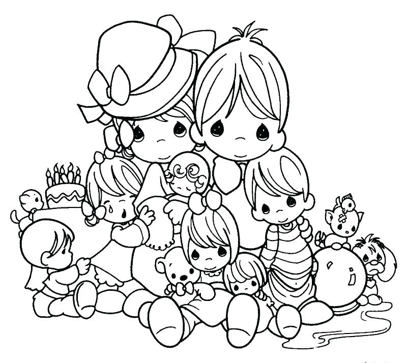 800x714 Amazing Nativity Scene Coloring Pages Kids Precious Moments Page