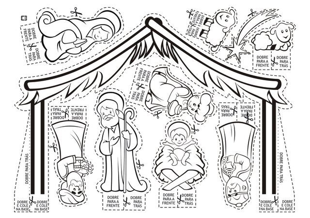 Nativity Scene Line Drawing at GetDrawings.com | Free for personal ...
