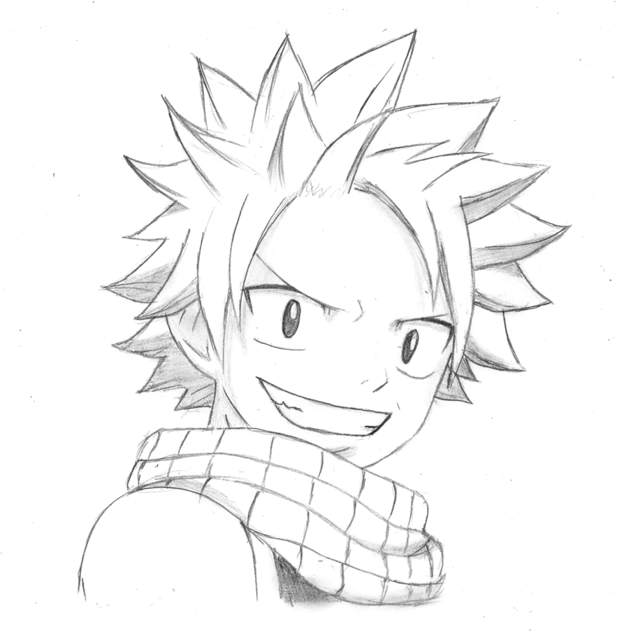 Natsu Dragneel From Fairy Tail Drawing At Getdrawings Free Download