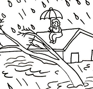 307x294 Natural Disasters Coloring Page
