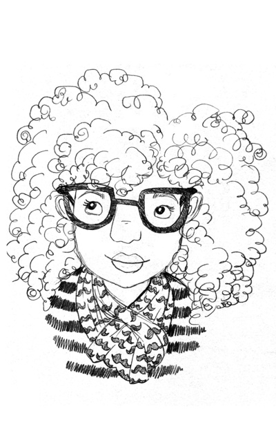 400x618 Curly girl#39 art by Sharee Miller. Curls they run the world Curls