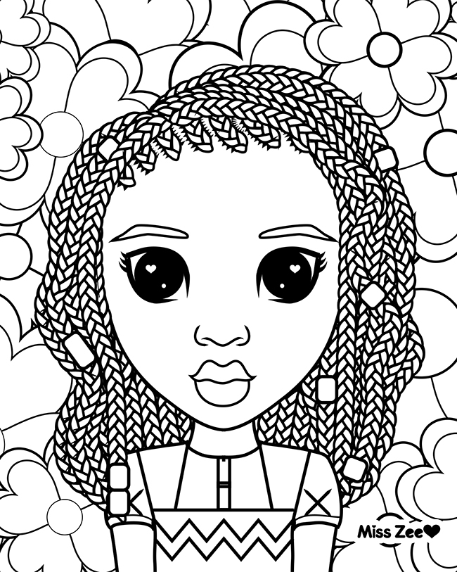 650x813 Naturally Beautiful Hair Free Miss Zee Natural Hair Coloring Page