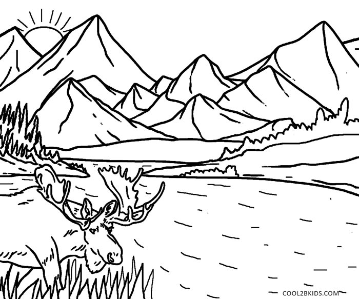 700x583 Printable Nature Coloring Pages For Kids Cool2bkids