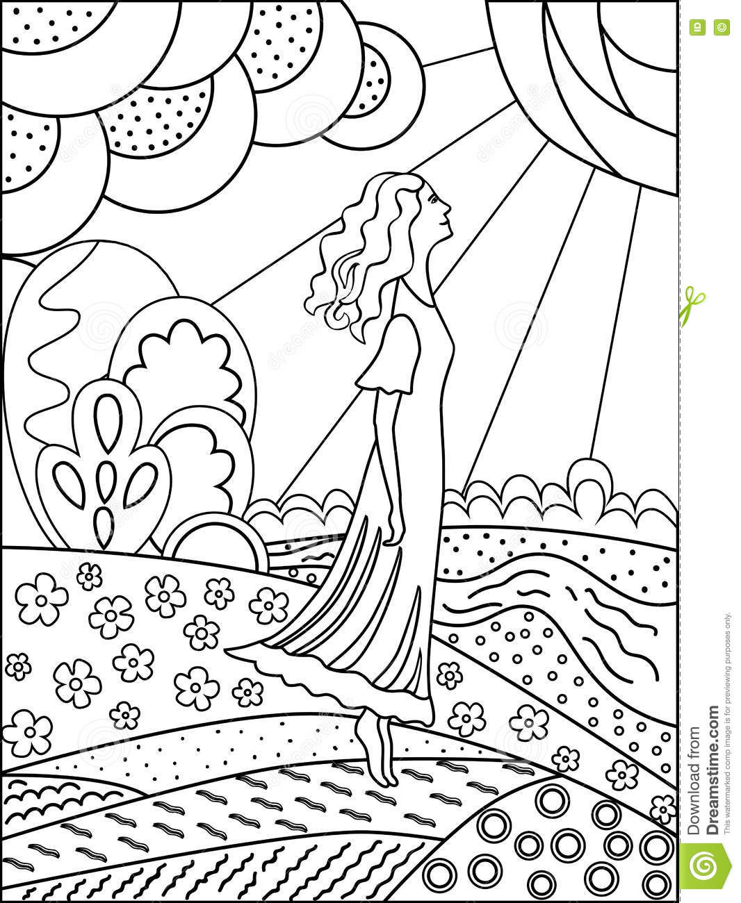 1066x1300 Simple Nature Drawings In Out Line Outline Drawing Of Nature