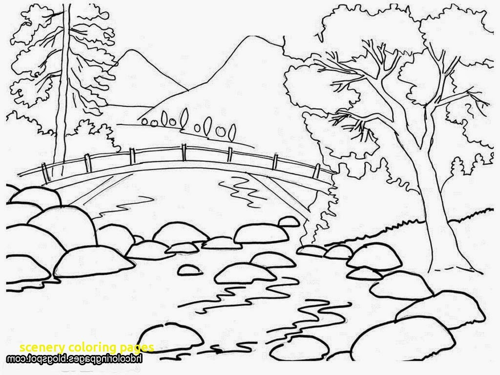 1024x768 Scenery Coloring Pages With Nature For