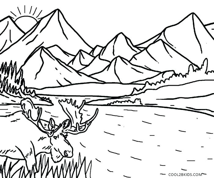 700x583 Top Rated Nature Coloring Pages Pictures Scenery