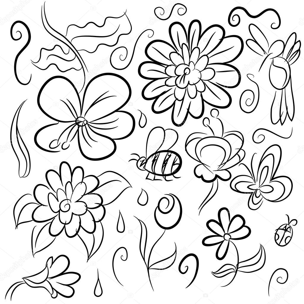 1024x1024 Nature Drawings Stock Vector Cteconsulting