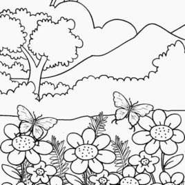 268x268 Coloring Page Of Nature Kids Drawing And Coloring Pages