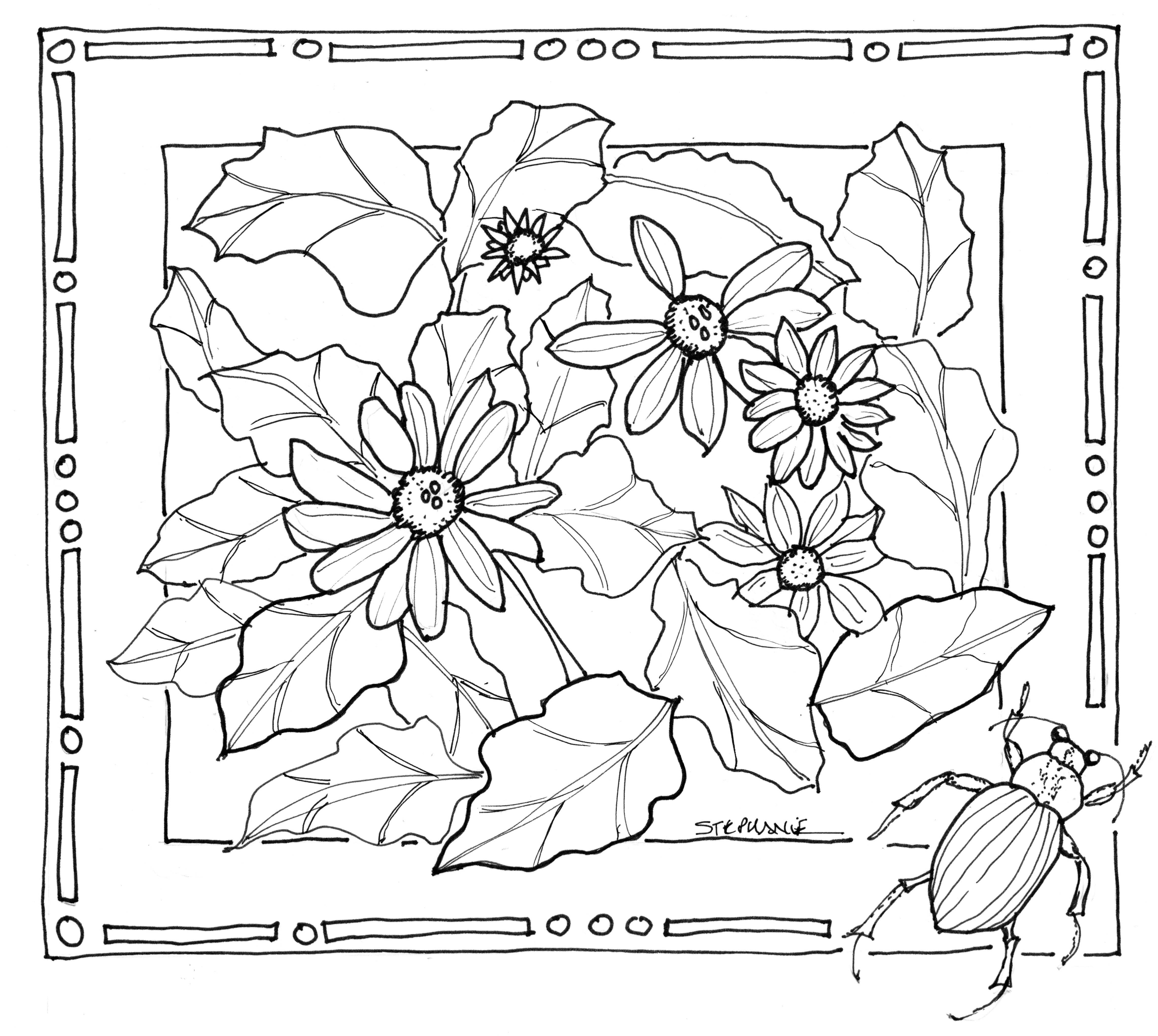 4565x4086 drawn nature colouring page