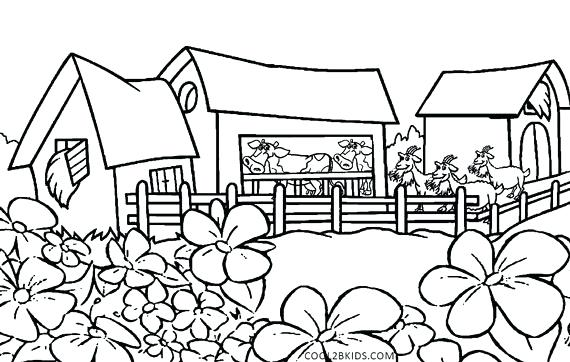 570x362 Nature Coloring Pages Nature Scene Free Online Nature Coloring