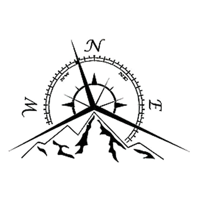 Nautical Compass Drawing