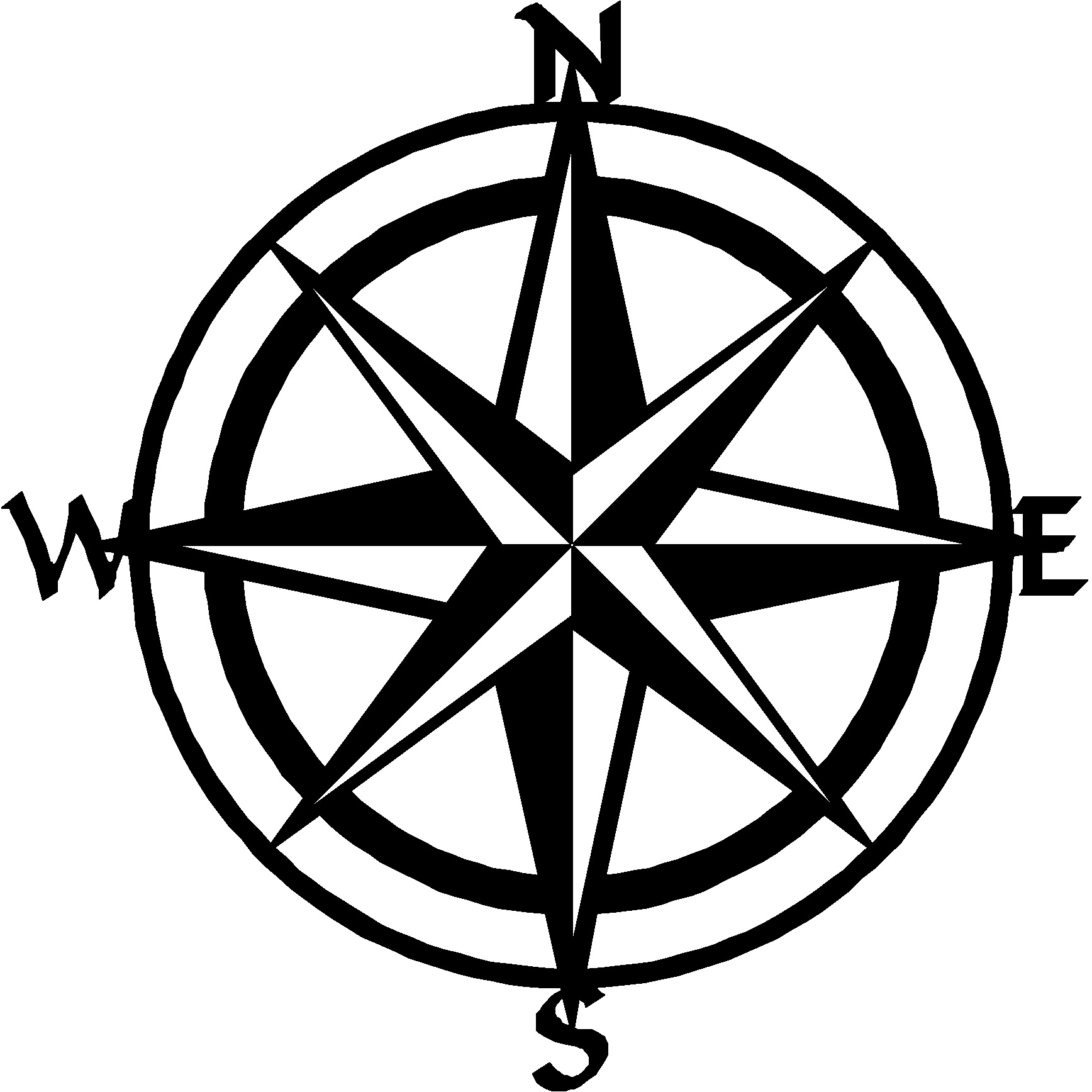 Nautical Compass Drawing At GetDrawings