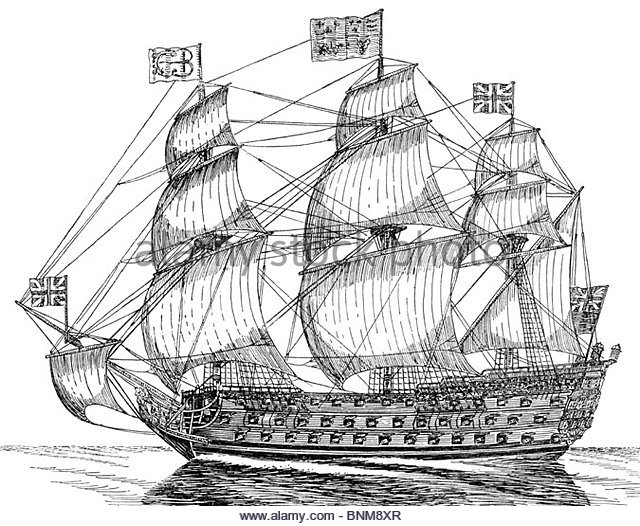 Naval Ship Drawing