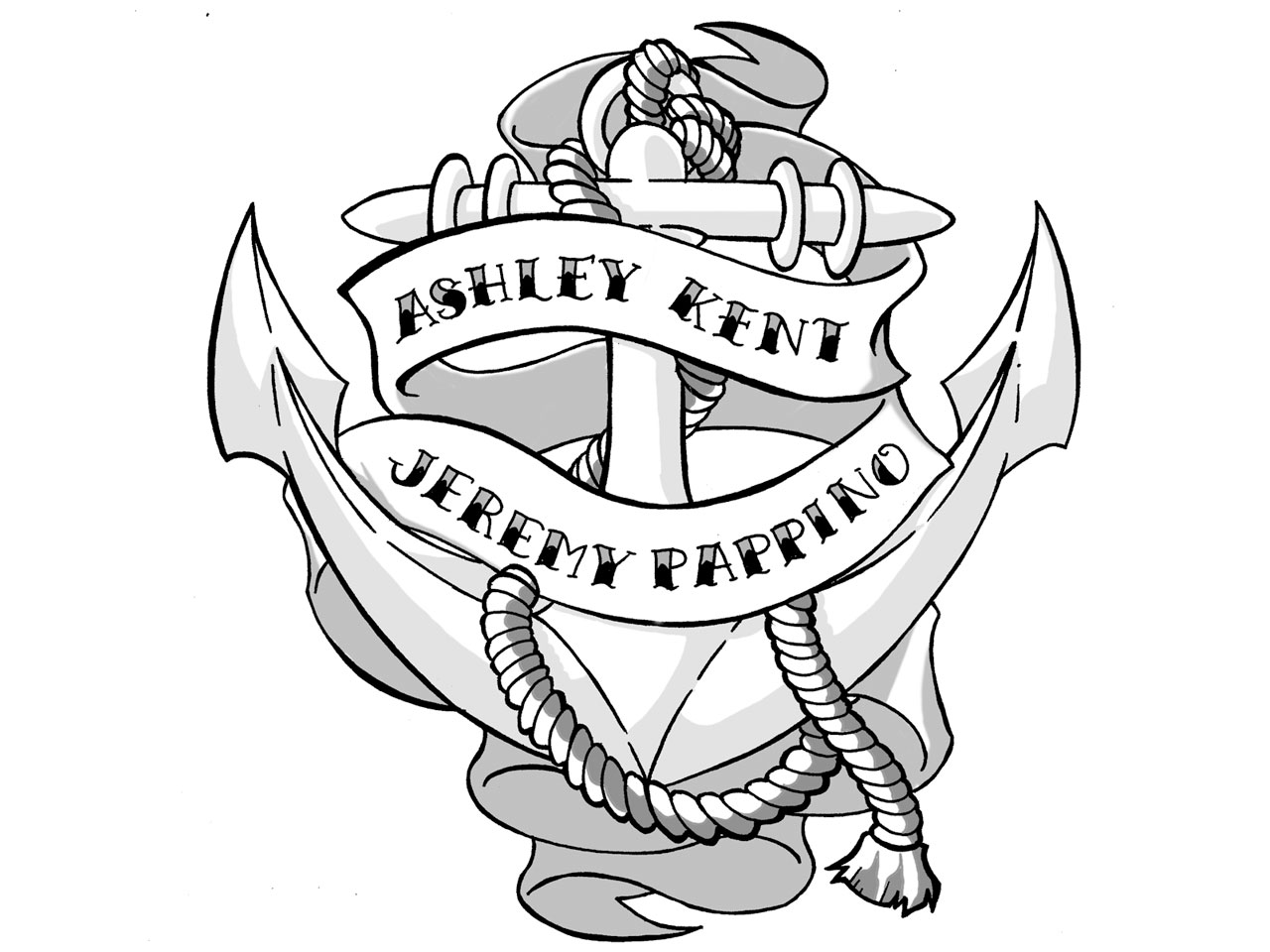 Navy Anchor Drawing