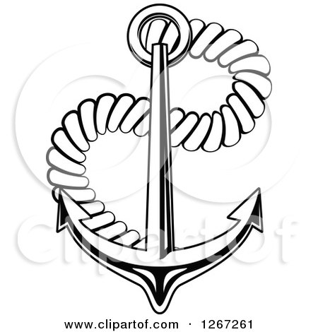 450x470 Clipart Navy Blue Banner And Anchor