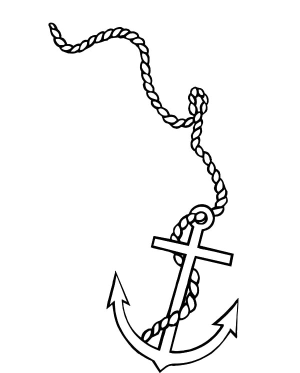 600x746 Little Boat Anchor Coloring Pages Bulk Color