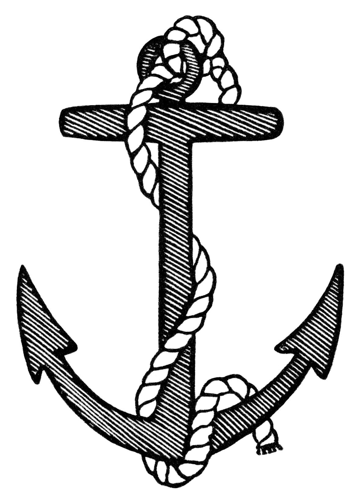 1185x1633 Navy Anchor Coloring Pages Resume
