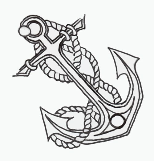 500x523 Anchor Tattoo Designs And Ideas