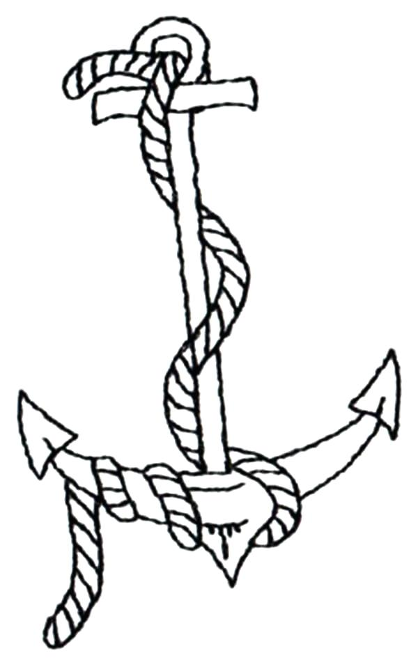 600x951 Anchor Coloring Page