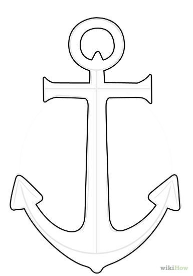 385x550 Nautical Anchor Print Anchor Drawing Nautical Art Aztec Design