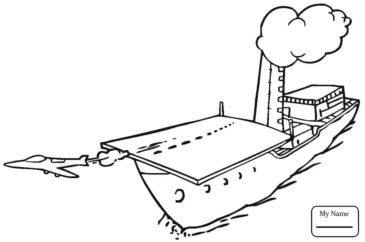 1224x811 Coloring Pages Navy Jet Is Approaching To Aircraft Carrier