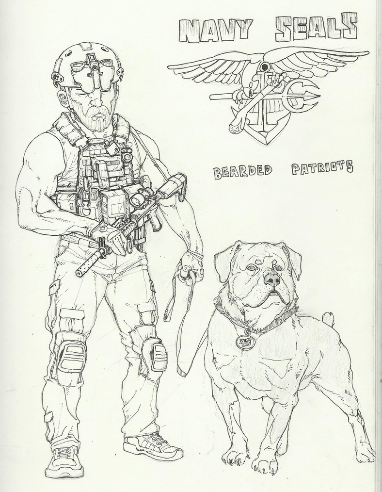 788x1014 A Navy Seal With His Pet By Georgeso
