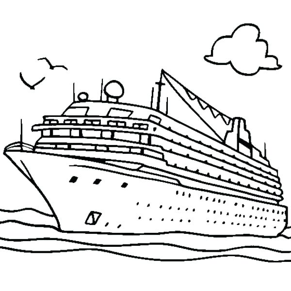 600x600 Cruise Ship Coloring Pages Boat Coloring Pages Cruise Ship Cruise