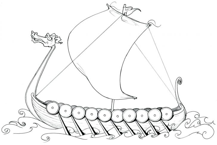 728x489 Ship Coloring Pages Cruise To Print Best Viking Wallpaper Unknown