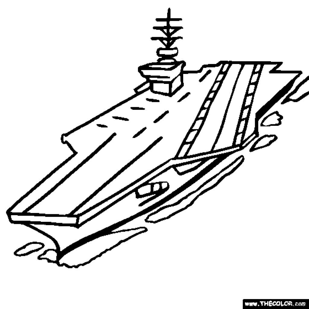 1024x1024 Warship Coloring Page Navy Pages Click The Submarine And 7f Sailor