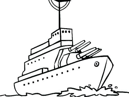 440x330 Battleship Coloring Pages Ships Coloring Pages Battleship Coloring