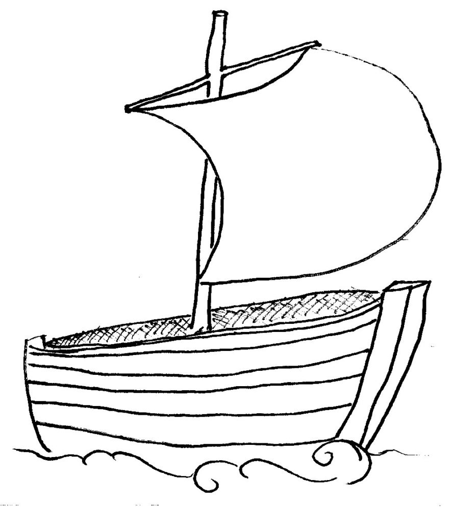 884x1024 Collection Of 18 Black Amp White Boat Clipart Images