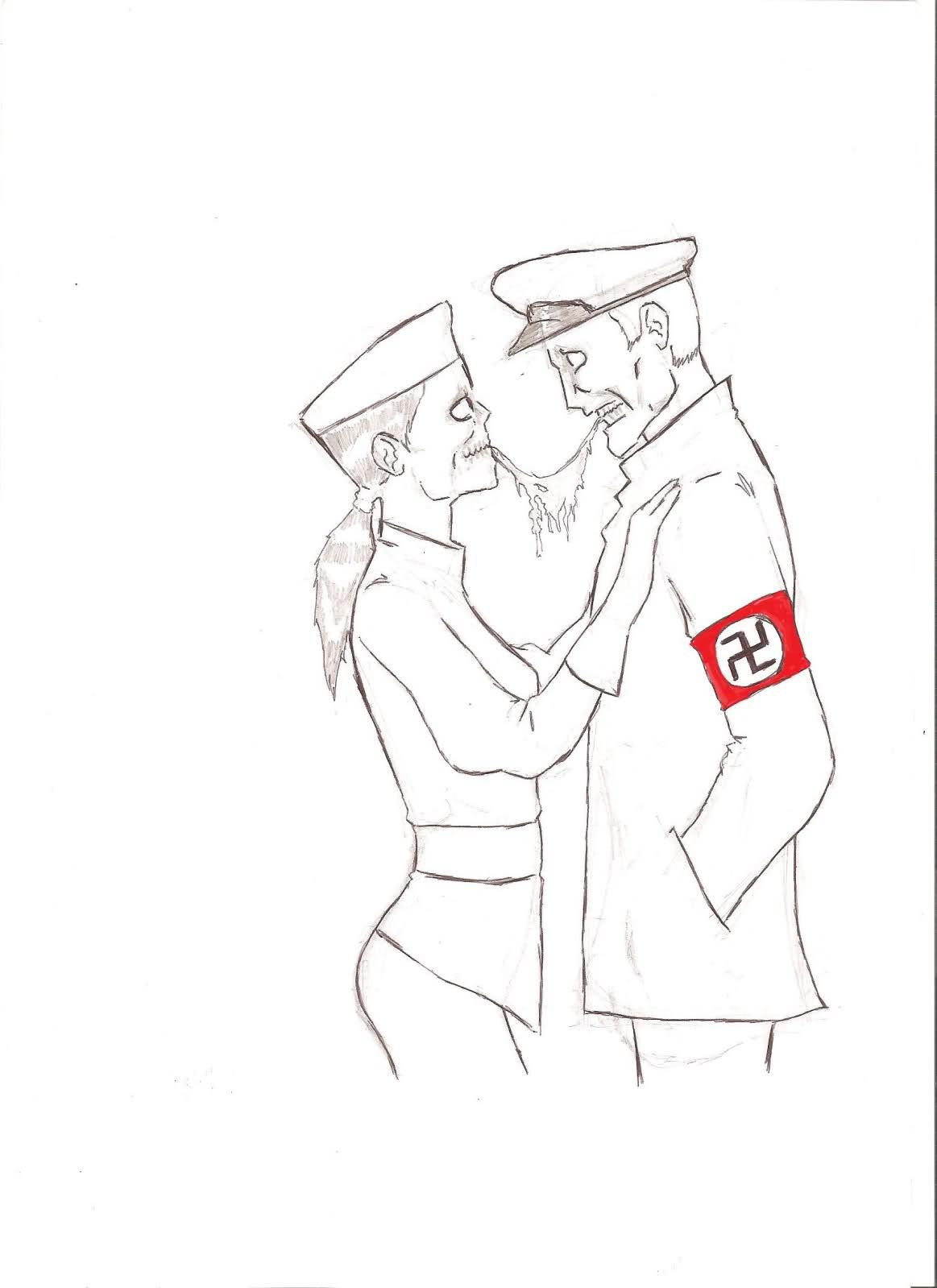 1163x1599 i drew nazi zombie couples impressions d