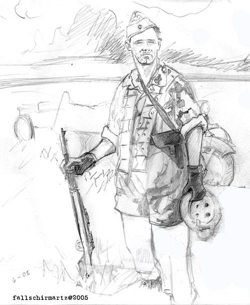 Nazi Soldier Drawing