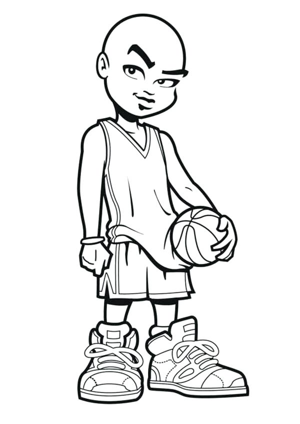 600x847 Basketball Players Coloring Pages Dunk Nba