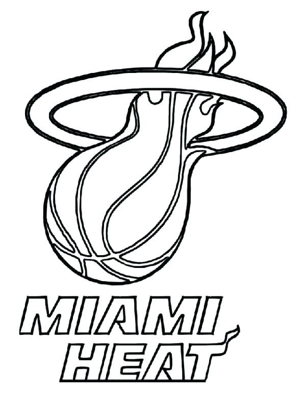 600x776 Nba Logos Coloring Pages Heat Com