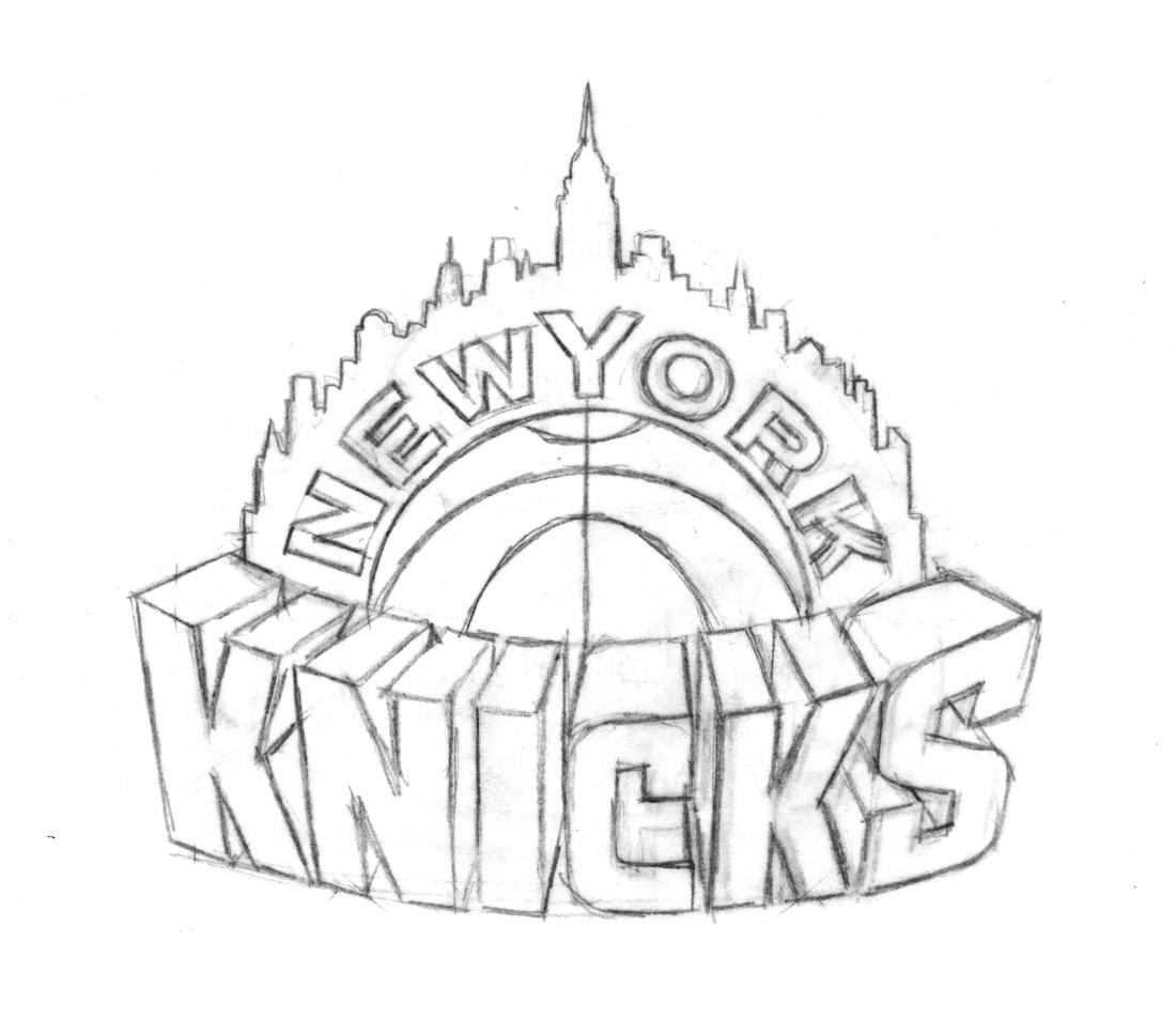 1100x953 Knicks Logo Drawing 2013