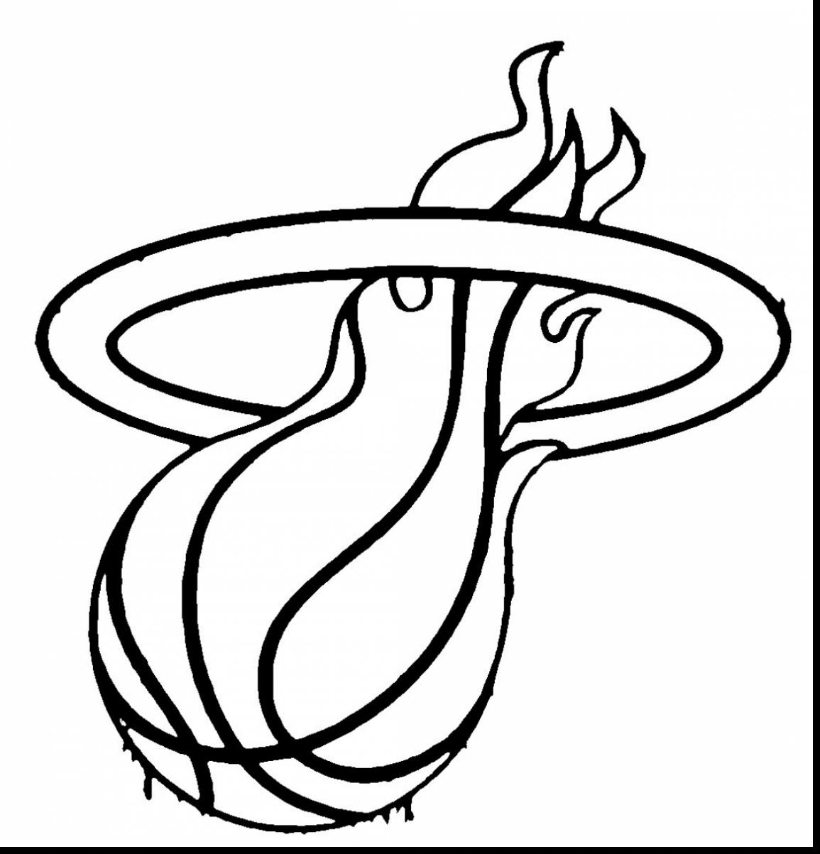 Nba logo drawing at free for personal for Miami heat coloring pages