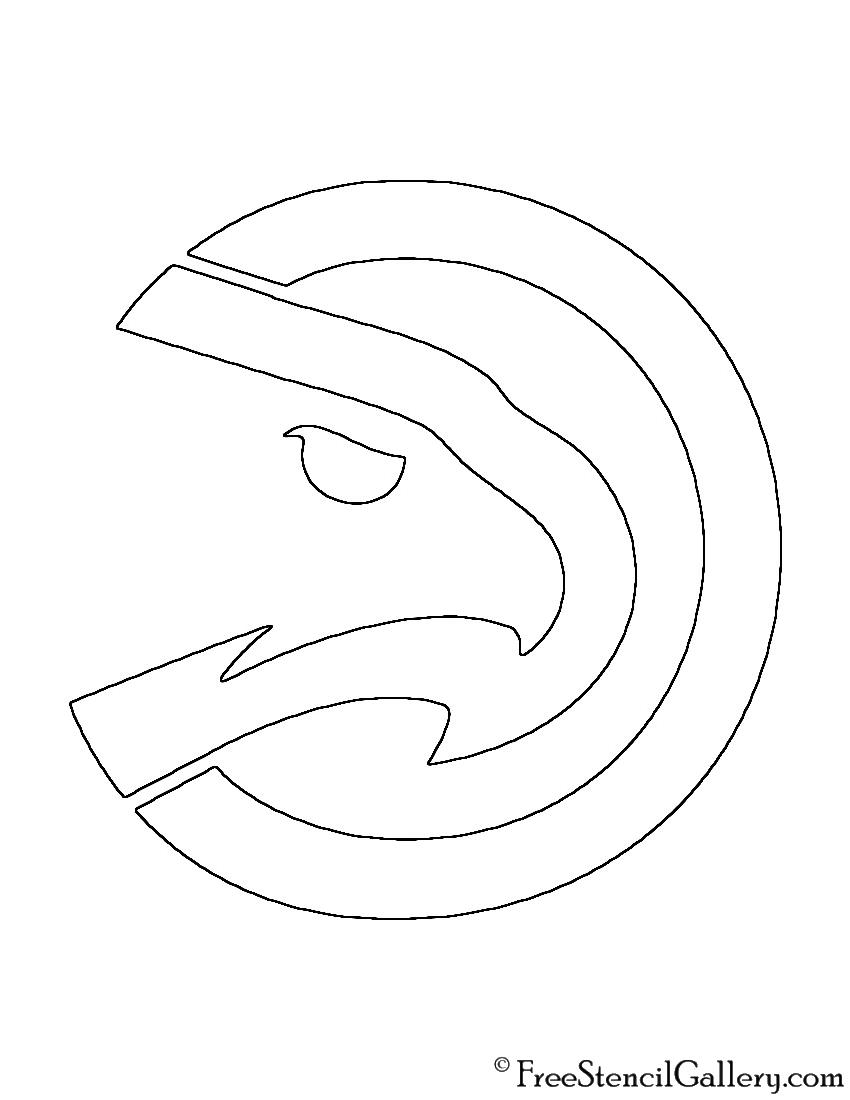 850x1100 Nba Atlanta Hawks Logo Stencil Free Stencil Gallery