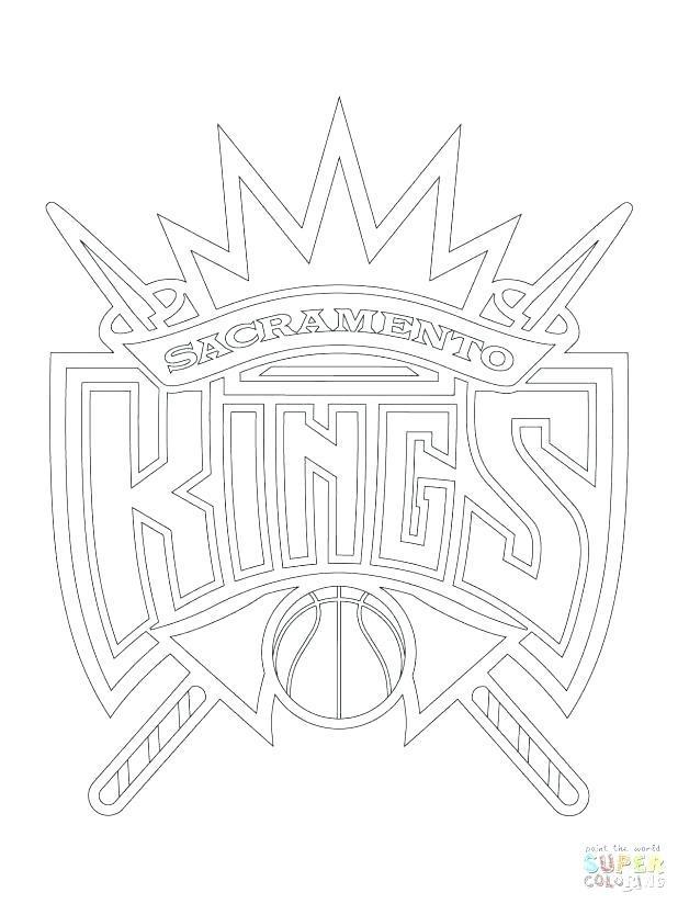 618x824 Nba Logos Coloring Pages Kings Logo Coloring Pages Nba Logos