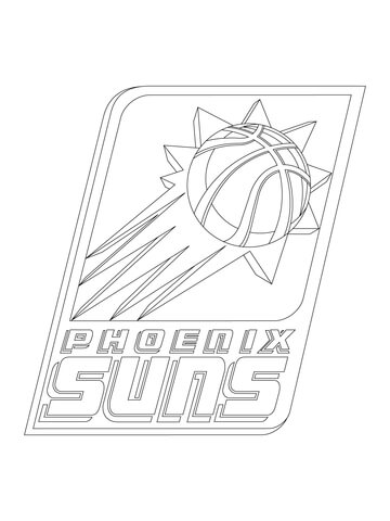 360x480 Phoenix Suns Logo Coloring Page Free Printable Pages