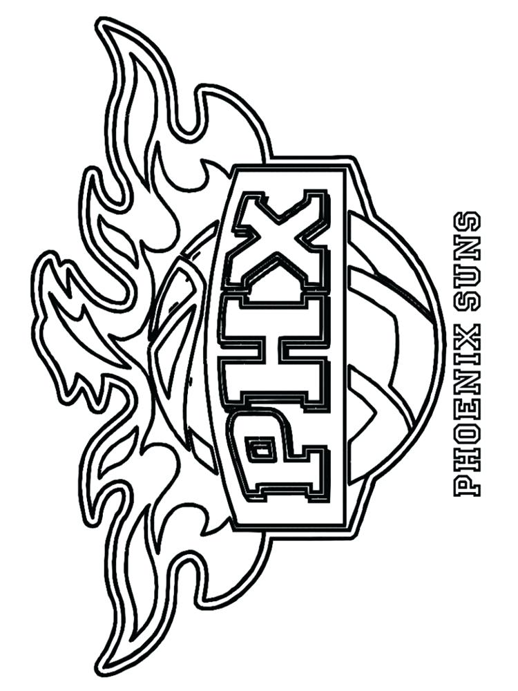 Nba logo drawing at free for personal for Nba logos coloring pages