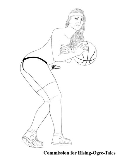 400x533 Com Sexy Basketball Player Sketch By Whiteguardian