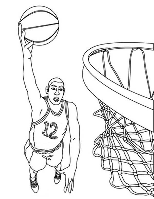 600x775 Nba Basketball Player Coloring Page Color Luna