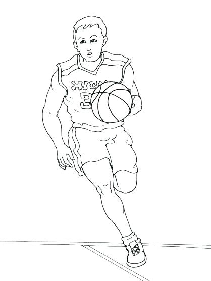 418x557 Nba Players Coloring Pages Basketball Player Coloring Page