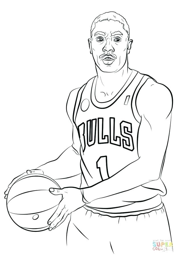625x900 Nba Players Coloring Pages Basketball Players Coloring Pages May