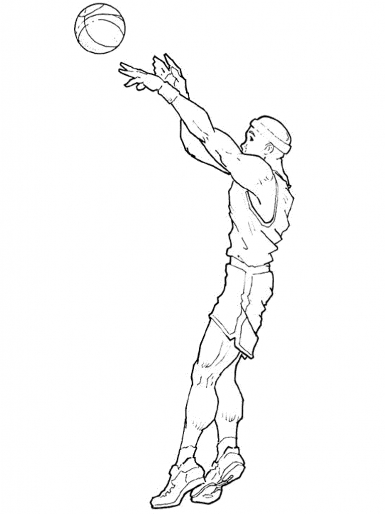 767x1024 Basketball Player Drawing Drawing Nba Players Bous