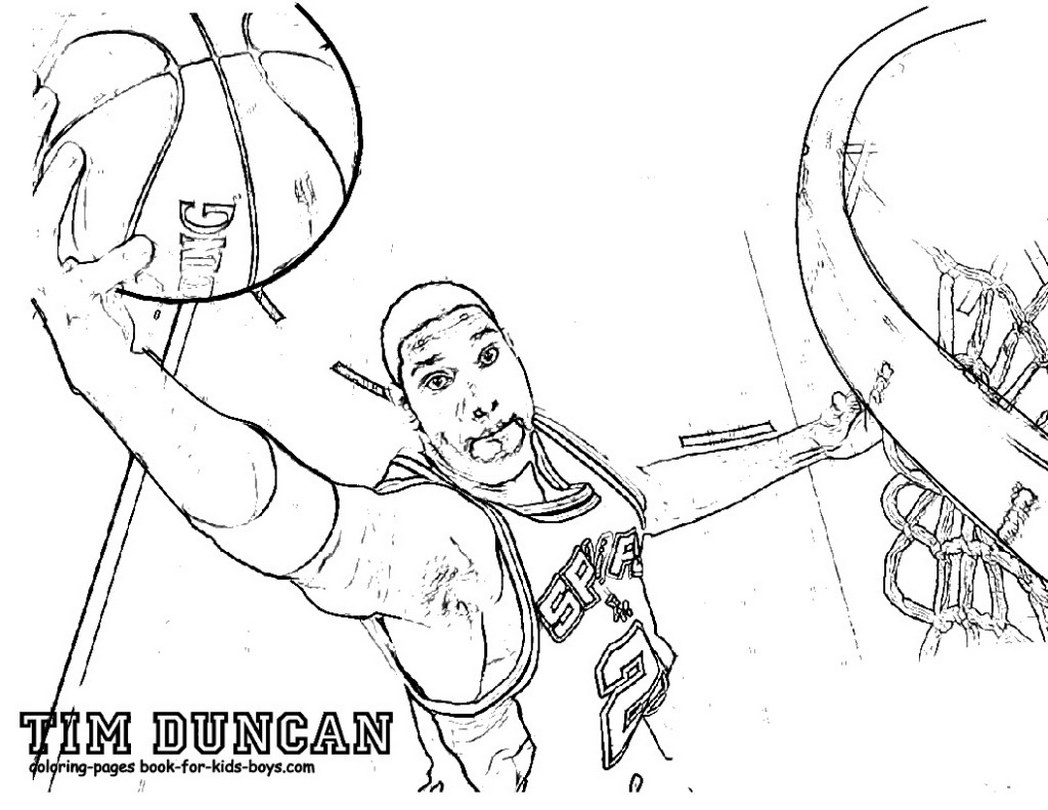 1048x810 NBA Coloring Pages