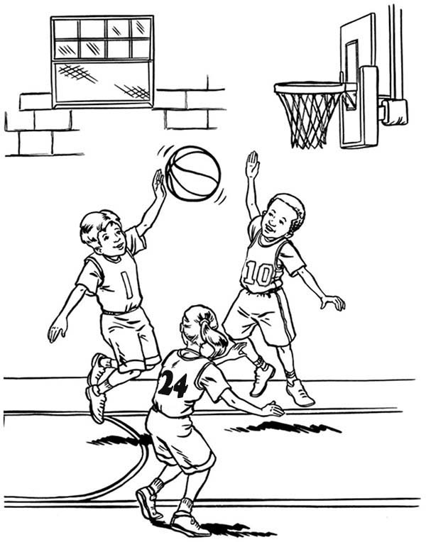 600x764 NBA Player Blocked Shot Coloring Page Color Luna